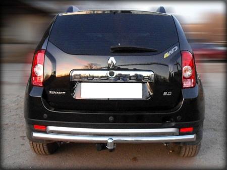 Renault Duster 2011-наст.вр.-Защита заднего бампера радиусная одинарная d-60 (без фаркопа)